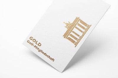 Mitgliedschaftskarte in gold