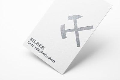 Mitgliedschaftskarte in silber